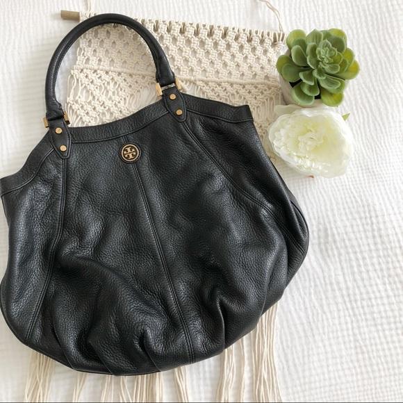 75ee221bb2ba Tory Burch Black Leather Dakota Hobo